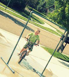 Drive thru sprinkler :) again with PVC...how versatile!! We Love Being Moms!
