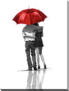 Couple Under Umbrella Richard MacNeil