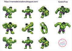 el hombre increible, free printable, Hulk, Kit imprimible, kit imprimible hulk, kits imprimibles, kits imprimibles gratis, kits imprimibles hulk, the incredible hulk, imagenes para decorar hulk, toppers hulk