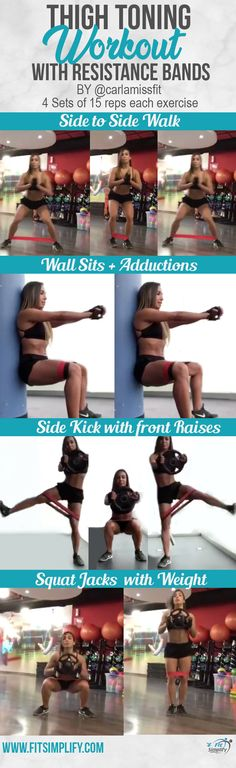 Tone those thighs with this excellent workout using bands. Click the image to ge… Tone those thighs with this excellent workout using bands. Click the image to ge… – Fitness übungen 30 tage – Thigh Toning Exercises, Resistance Band Exercises, Cellulite Exercises, Fitness Exercises, Cellulite Wrap, Reduce Cellulite, Anti Cellulite, Fitness Transformation, Yoga Pilates