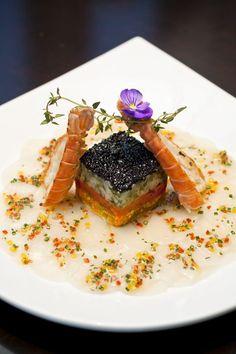 tartare lagoustine saumon #caviar