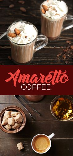 Nothing rounds out the work week like a cocktail. Try this amaretto coff… Nothing rounds out the work week like a cocktail. Try this amaretto coffee recipe for a nightcap Amaretto Coffee Recipe, Coffee Liquor Recipe, Amaretto Drinks, Coffee Drink Recipes, Alcohol Drink Recipes, Cafe Amaretto, Cocktail Amaretto, Bourbon Drinks, Drink Coffee