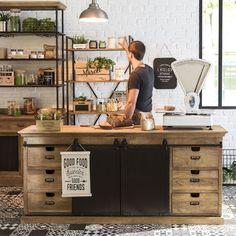 Tour d'horizon de la nouvelle collection de Maisons du Monde | Tendance Green Market | Cuisine rétro indus