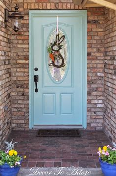 Decor To Adore: How To Create a Smooth Painted Finish on an Exterior Metal Door