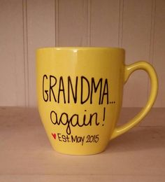 24 Ideas For Baby Announcement Gifts For Grandparents Coffee Mugs Baby On The Way, Second Baby, 2nd Baby, Baby Boy, Baby 2 Announcement, Pregnancy Announcement To Parents, Everything Baby, Grandma Gifts, Aunt Gifts
