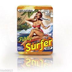 Filthy Surfer All Natural Large Bar Glycerin Soap Coconut Lime Grapefruit Soy