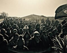 400 Youth Protectors Walked to the Police Barricade North of the Oceti Sakowin Camp in a Silent Prayer March. Nov. 7 #nodapl