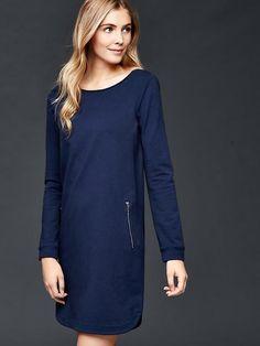 Zipper shirttail dress