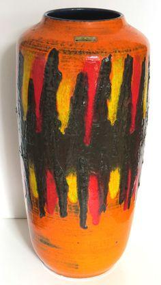 Vase 70er Scheurich 517-45 W. Germany great LAVA FLOORVASE 17.7 inch Bodenvase | Antiquitäten & Kunst, Porzellan & Keramik, Keramik | eBay!