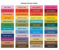 labels for distress ink pads - Google Search