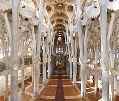 Basilica de la Sagrada, the most lovely and uplifting of Gaudi's work