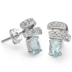 .82ct (16 PCS) GENUINE DIAMOND & AQUAMARINE PLATINUM OVER 0.925 STERLING SILVER EARRINGS --> Forever young and diamonds for forever!  --> You can get .82ct (16 PCS) GENUINE DIAMOND & AQUAMARINE PLATINUM OVER 0.925 STERLING SILVER EARRINGS for just $220.00 (a 53% savings!) at http://clickmarketclick.blogspot.com