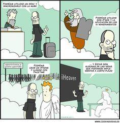 Steve Jobs improvements in Heaven (Spanish)