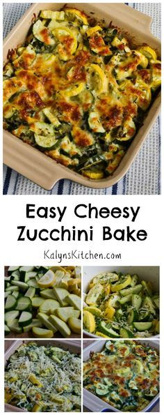 This simple but fabulous recipe for Easy Cheesy Zucchini Bake has been a huge hit ever since I first posted it in 2011, and now the recipe has been pinned over 1M times! If you're going to have a surplus of zucchini coming up, you want to try this recipe! #LowCarb #GlutenFree #ZucchiniRecipe [from KalynsKitchen.com]
