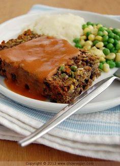 Copycat Amy's Veggie Loaf Dinner (USE GF breadcrumbs to make GF)