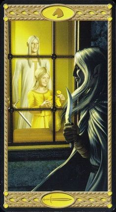Knight of Swords - Tarot of the Elves Tarot, Ace Of Pentacles, Knight Sword, Air Fire, I Love You All, The Elf, Archetypes, Elves, Pagan