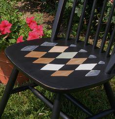 diamond painted chairs