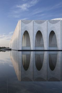 Gallery of the Muslim Cultural Center Da Chang / Architectural Design & Research Institute of SCUT - 10 - Cultural Architecture Cultural Architecture, Architecture Design, Islamic Architecture, Facade Design, Contemporary Architecture, Landscape Architecture, Dezeen Architecture, China Architecture, Classical Architecture