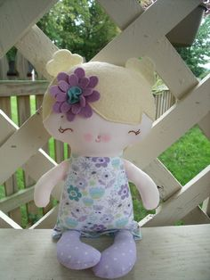 My Friend Martha--a handmade cloth doll now available in my etsy shop.