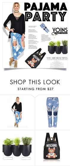 """""""Yoins:Little Bear"""" by yoinscollection on Polyvore featuring Authentics and Moschino"""