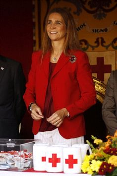 Princess Elena of Spain at the Red Cross Fundraising Day on 10 Oct 2012 in Madrid