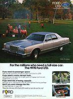 Ford LTD Landau Full-Size 1978 Ad Picture