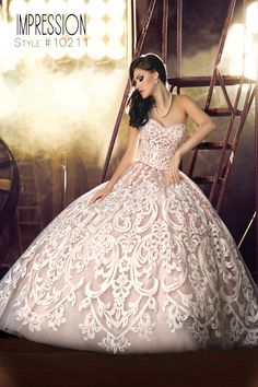 Beautiful Lace Ivory/Rose Gold. .impressionbridal