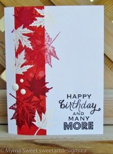 Canada Day by - Cards and Paper Crafts at Splitcoaststampers Happy Birthday Canada, Happy Canada Day, Birthday Party Images, Birthday Cards, Fall Cards, Winter Cards, Canada Day Party, Thanksgiving Cards, Card Making Inspiration