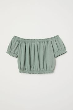 Off-the-shoulder Top - Dusky green - Ladies Girls Fashion Clothes, Teen Fashion Outfits, Outfits For Teens, Teenager Outfits, Ladies Fashion, Fashion Dresses, Women's Fashion, Cute Girl Outfits, Cute Summer Outfits