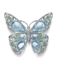 The Art of the Sea : Broche Papillon High Jewelry, Luxury Jewelry, Unique Jewelry, Gemstone Brooch, Butterfly Jewelry, Tiffany Jewelry, Jewelry Armoire, Turquoise Jewelry, Diamond Jewelry