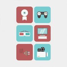 Pack de iconos multimedia Vector Gratis