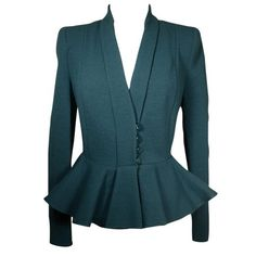 Peplum Stretch Jacket!  Peplum is a fabulous look on every body.