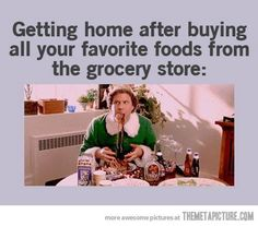 What day of the week do you grocery shop? I have some food prepping to do... after I stuff my face