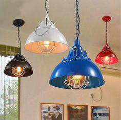 96.00$  Watch here - http://alihol.worldwells.pw/go.php?t=32410427409 - Retro industrial chandeliers American nostalgic lighting Wrought iron coffee bar droplight Creative droplight 96.00$
