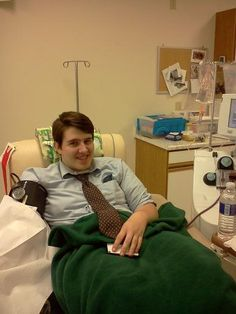 What a milestone today for George Woods, a junior at Catholic Central High School. He has 3 whole blood donations to his credit, and today he donated platelets for the first time! Congratulations George and many thanks!