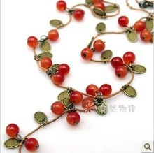 Cheap jewelry gauge, Buy Quality jewelry glass directly from China jewelry parties Suppliers: Jewelry Fashion Jewelry For Women Korean Fashion Vine Red Cherry Necklace Fashion Jewelry Necklaces, Jewelry Party, Fashion Necklace, Jewelry Accessories, Women Jewelry, Cute Necklace, Necklace Price, Necklace Types, Pearl Necklace