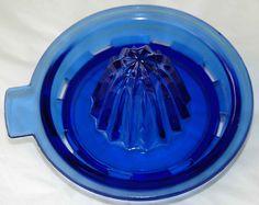COBALT BLUE Glass JuicerREAMER by hensnest10 on Etsy, $14.99