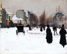 Norbert Goeneutte 'The Boulevard de Clichy under Snow', 1876