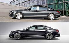 Mercedes-Maybach S 600 Х222 (upper) and Mercedes S600 W222 (V222 below)