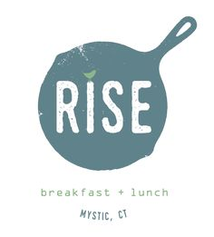 rise mystic ct // branding and logo design for breakfast and lunch restaurant
