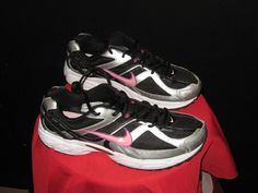 Womens Nike Compete 2 Running Shoes Black/Pink/Silver Size 11 #Nike #CrossTraining #fitness