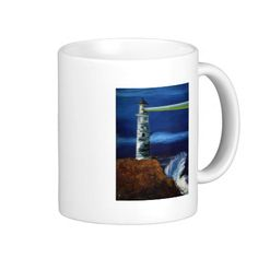 GUIDING LIGHT (lighthouse design 2) ~ Mug  Original paintings can be found for sale through my Amazon store at: http://www.amazon.com/shops/artmatrix or you can make direct arrangements for them through me. JMO Zazzle designs: http://www.zazzle.com/thewhippingpost?rf=238063263784323237 To help an artist, you can donate here: http://www.gofundme.com/6am6lg