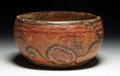 Maya Copador Polychrome Monkey Bowl Ceramic Pottery, Ceramic Art, Maya, Colombian Art, Vases, Stone Carving, Civilization, Aztec, Ceramics