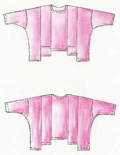Lagenlook,  Einzel - Schnittmuster, Shirt Tibet