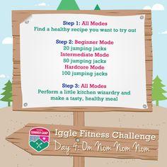"Iggle Fitness Challenge – Day 4 ""Om Nom Nom Nom"" | International Geek Girl Pen Pals Club #IGGPPC #IGGPPCamp"