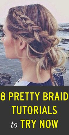 8 pretty braided hairstyles to try--I wish I could braid my own hair better because I am digging the zig zag Dutch braid.