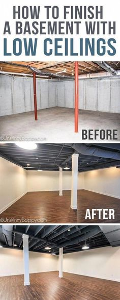 Stylish Home Basement Ceiling Ideas for Different Rooms Amazing Unfinished Basement Ideas You Should Try Tags: unfinished basement ideas on a budget how to Unfinished Basement Ceiling, Basement Ceiling Options, Old Basement, Basement Lighting, Basement Stairs, Basement Bedrooms, Ceiling Ideas, Unfinished Basements, Basement Apartment