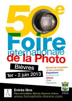 """Compétence Photo """"M"""" la 50e Foire Internationale de la Photo à Bièvres. A noter sur son agenda : 1er et 2 juin 2013."""