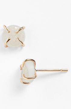 Drusy Stud Earrings