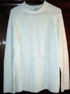"""Incredibly Soft and Cozy Cream Sweater Fits up to 50""""Bust Size XL $18.00"""